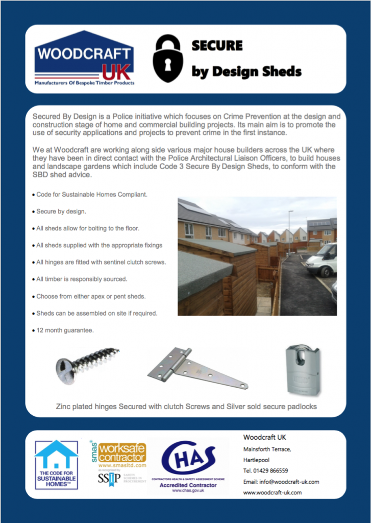 SecurebyDesign Shed Leaflet